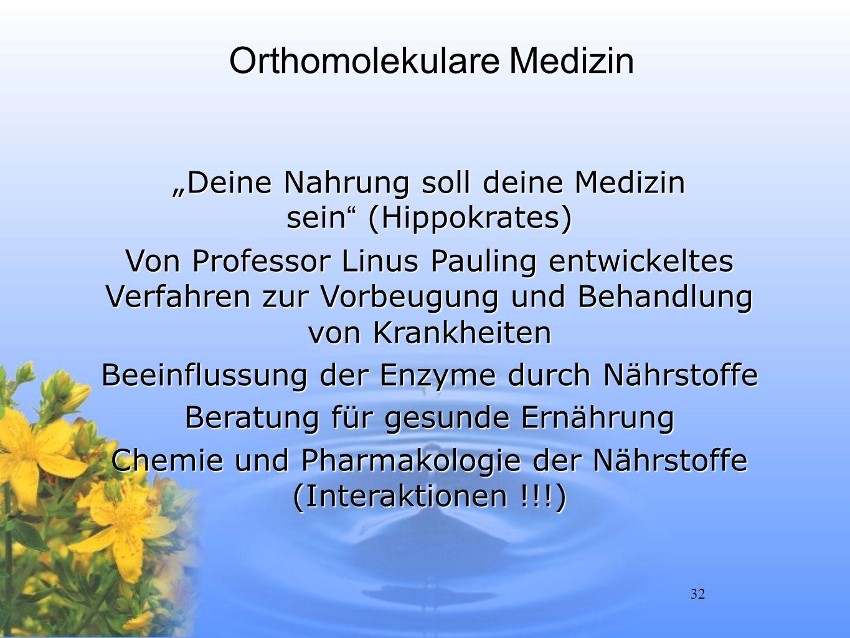 Orthomolekulare Medizin