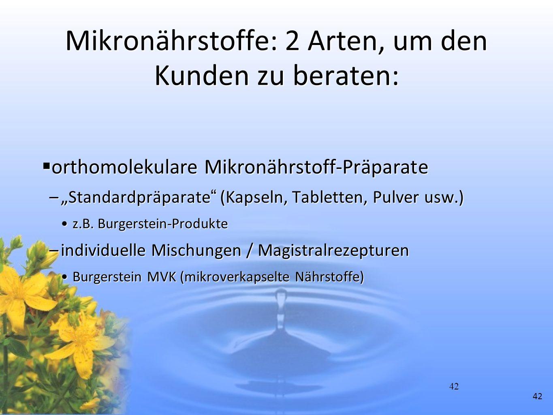 Mikronährstoffe: 2 Arten, um den Kunden zu beraten: