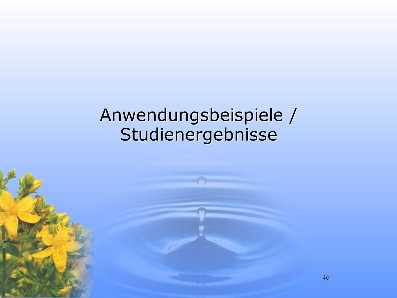 Anwendungsbeispiele / Studienergebnisse