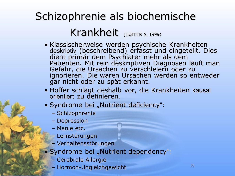 Schizophrenie als biochemische Krankheit (HOFFER A. 1999)