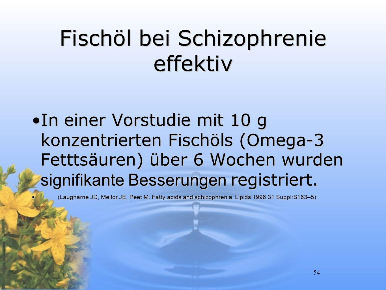 Fischöl bei Schizophrenie effektiv