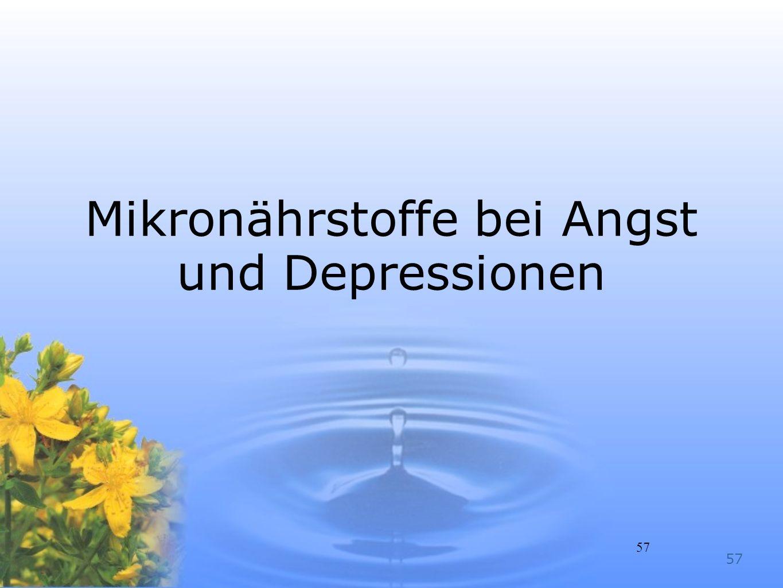 Mikronährstoffe bei Angst und Depressionen