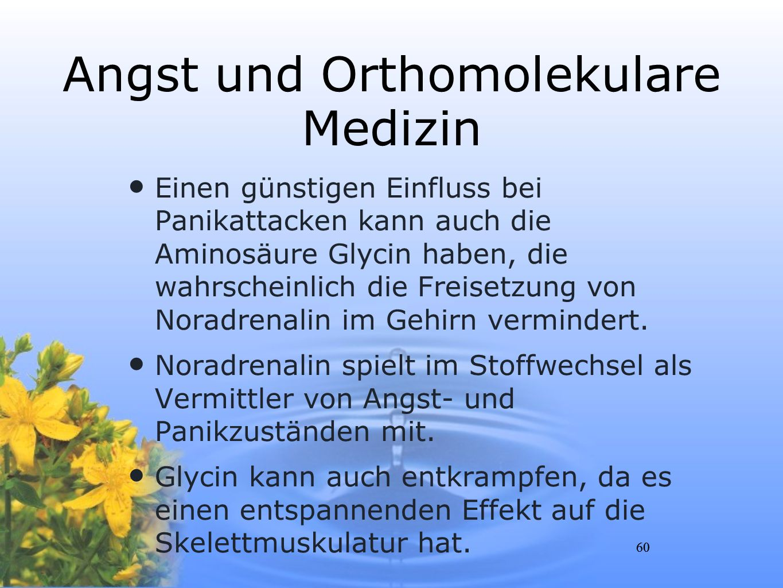 Angst und Orthomolekulare Medizin