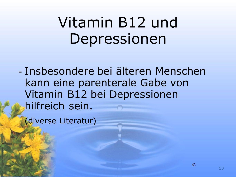 Vitamin B12 und Depressionen
