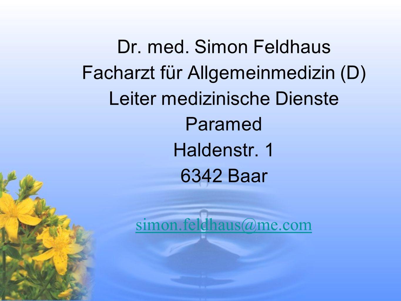 Facharzt für Allgemeinmedizin (D) Leiter medizinische Dienste Paramed