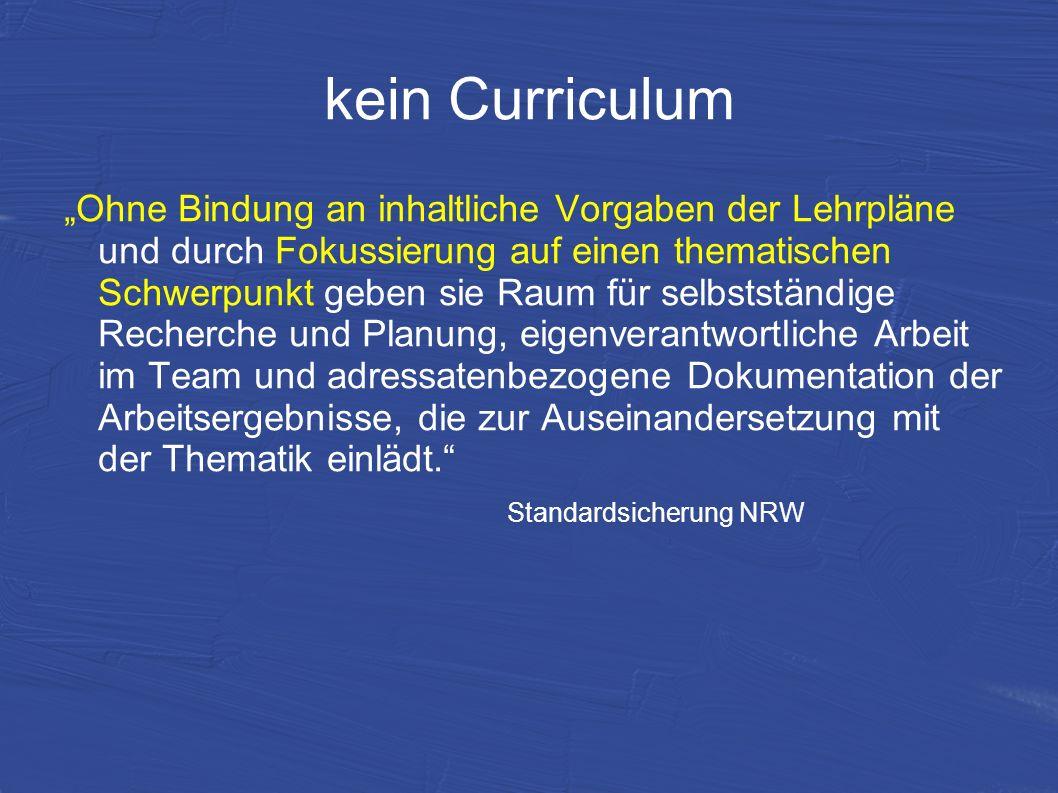 kein Curriculum
