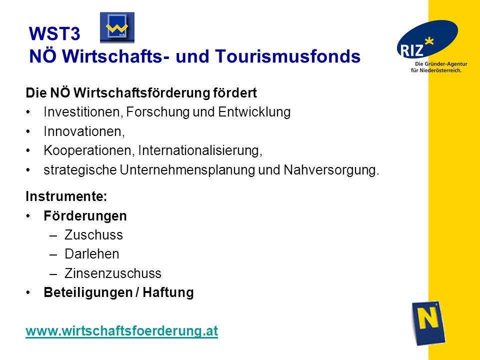 WST3 NÖ Wirtschafts- und Tourismusfonds