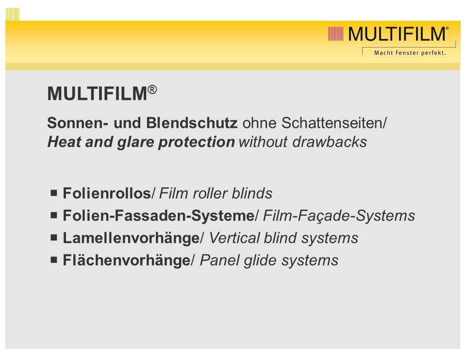 MULTIFILM® Sonnen- und Blendschutz ohne Schattenseiten/