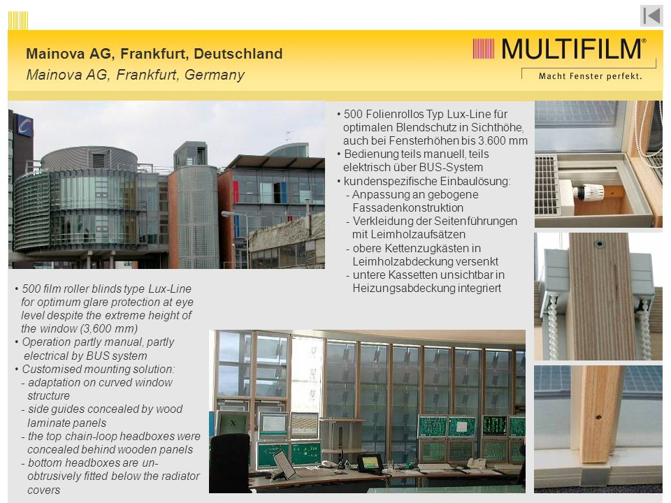 Mainova AG, Frankfurt, Deutschland Mainova AG, Frankfurt, Germany