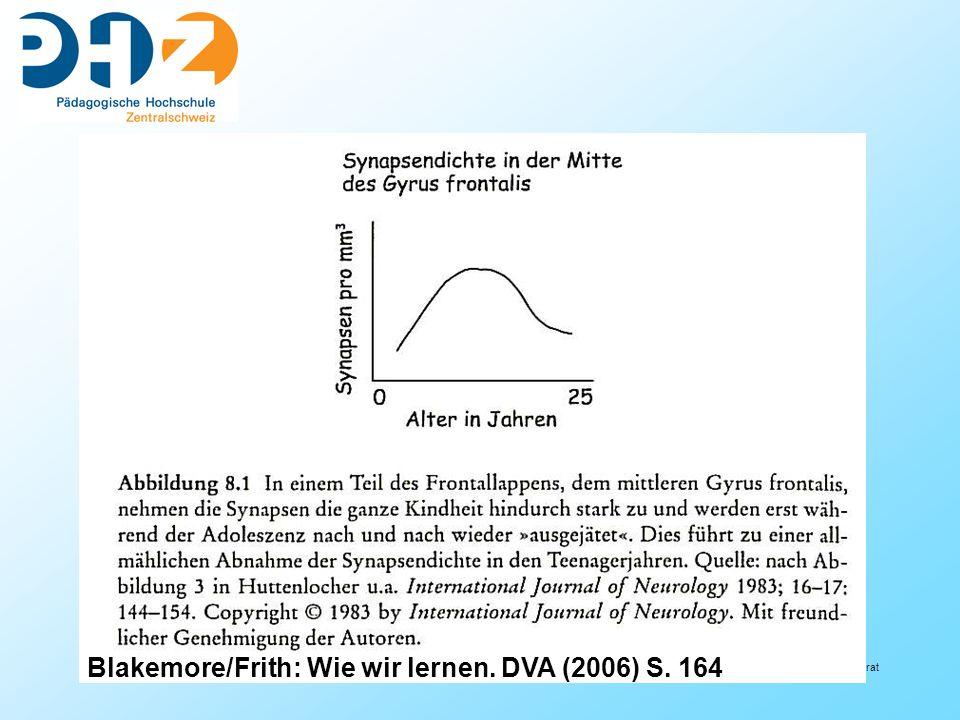 Blakemore/Frith: Wie wir lernen. DVA (2006) S. 164