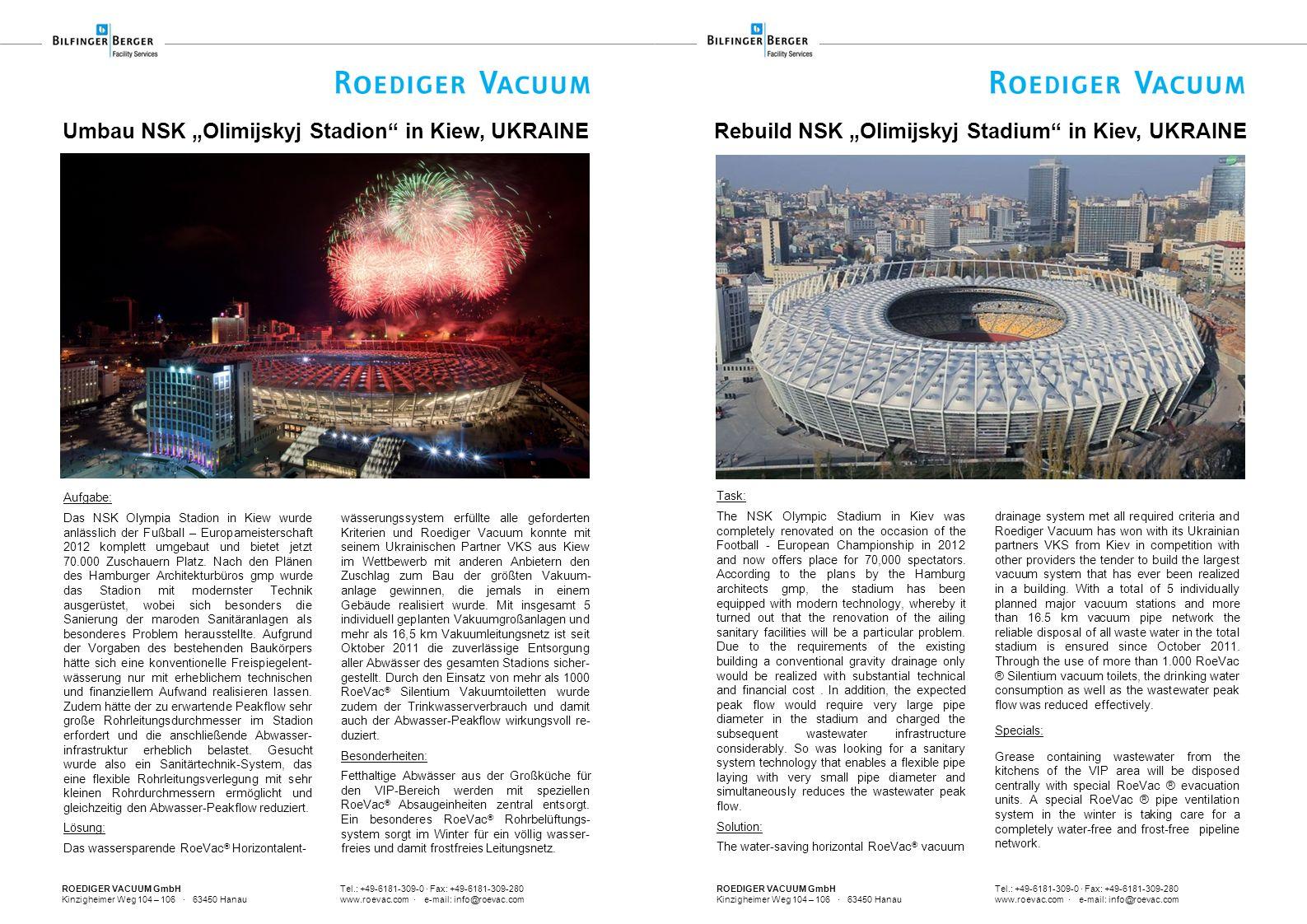 "Umbau NSK ""Olimijskyj Stadion in Kiew, UKRAINE"
