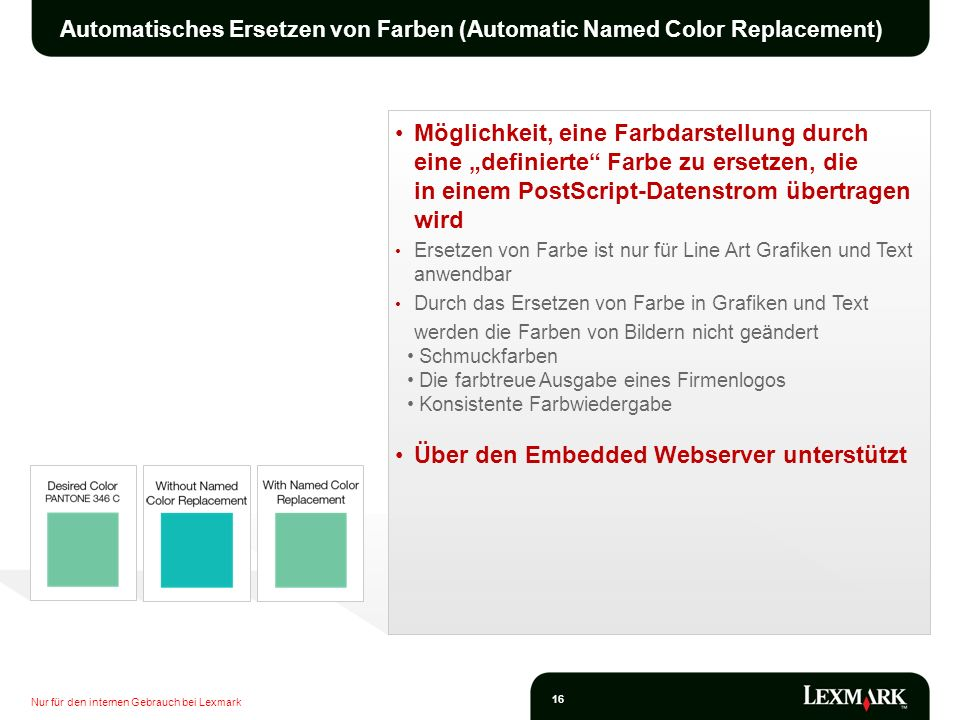 Automatisches Ersetzen von Farben (Automatic Named Color Replacement)