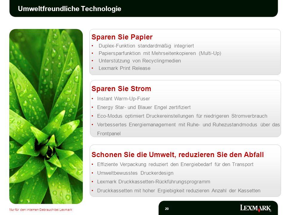 Umweltfreundliche Technologie