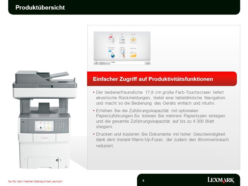 Produktübersicht Einfacher Zugriff auf Produktivitätsfunktionen