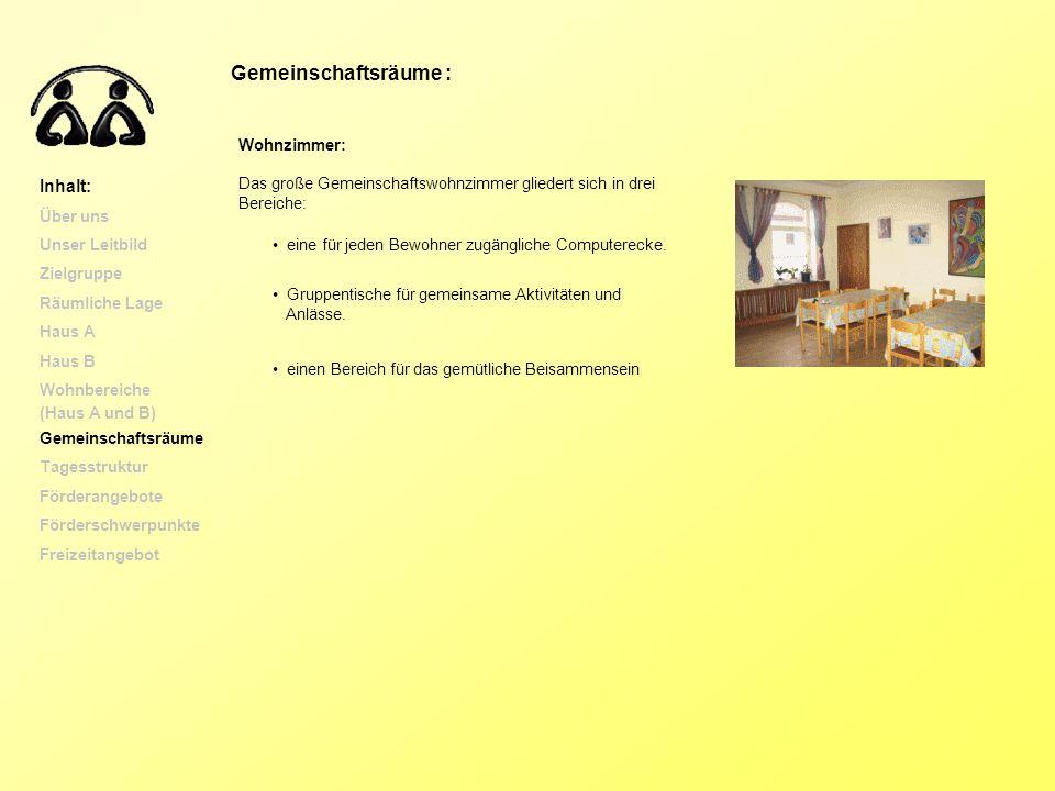 Gemeinschaftsräume : Inhalt: Wohnzimmer: