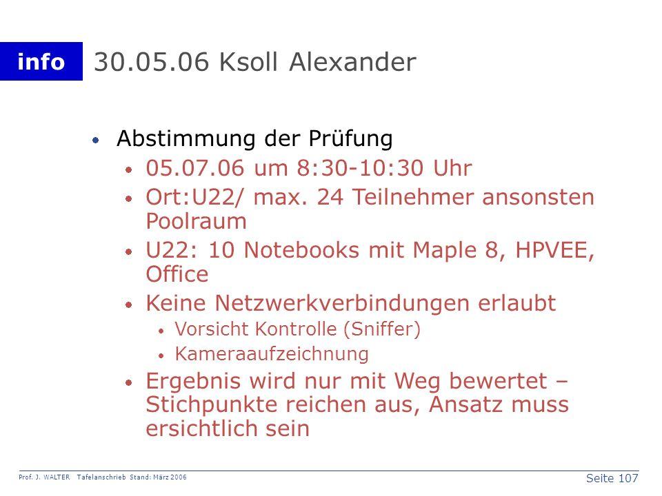 30.05.06 Ksoll Alexander Abstimmung der Prüfung