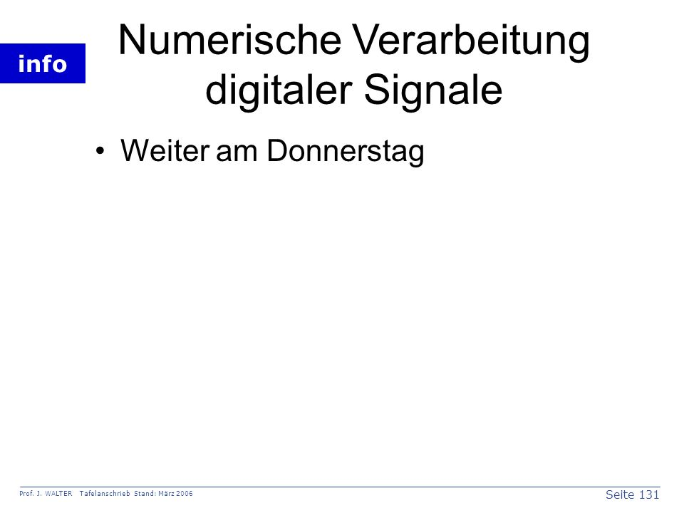 Numerische Verarbeitung digitaler Signale