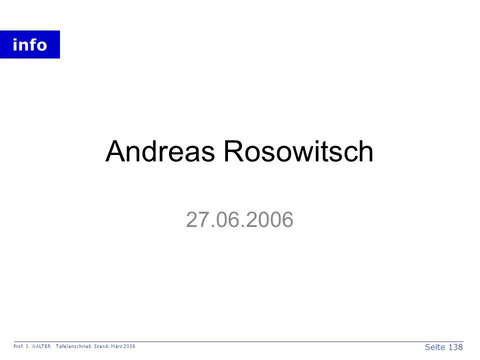 Andreas Rosowitsch 27.06.2006