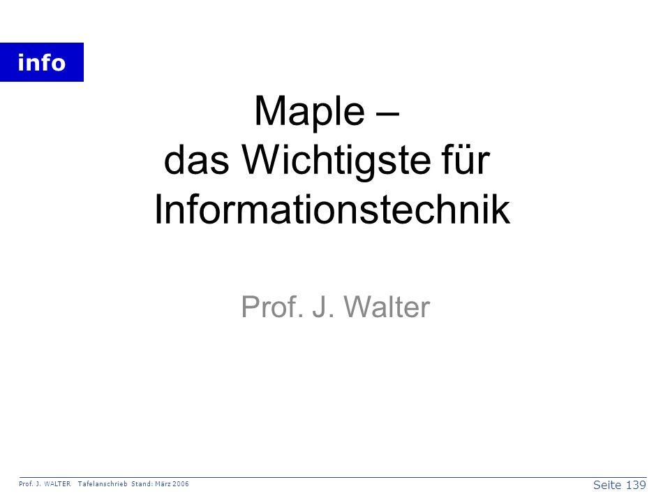 Maple – das Wichtigste für Informationstechnik