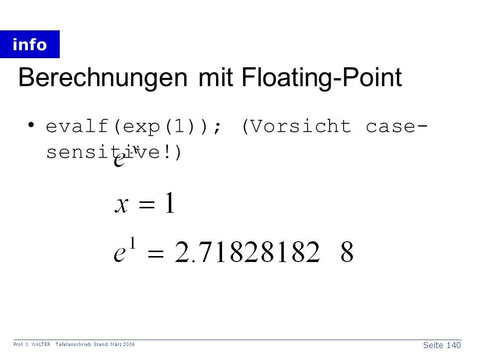 Berechnungen mit Floating-Point