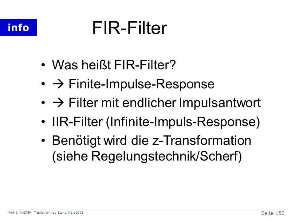 FIR-Filter Was heißt FIR-Filter  Finite-Impulse-Response