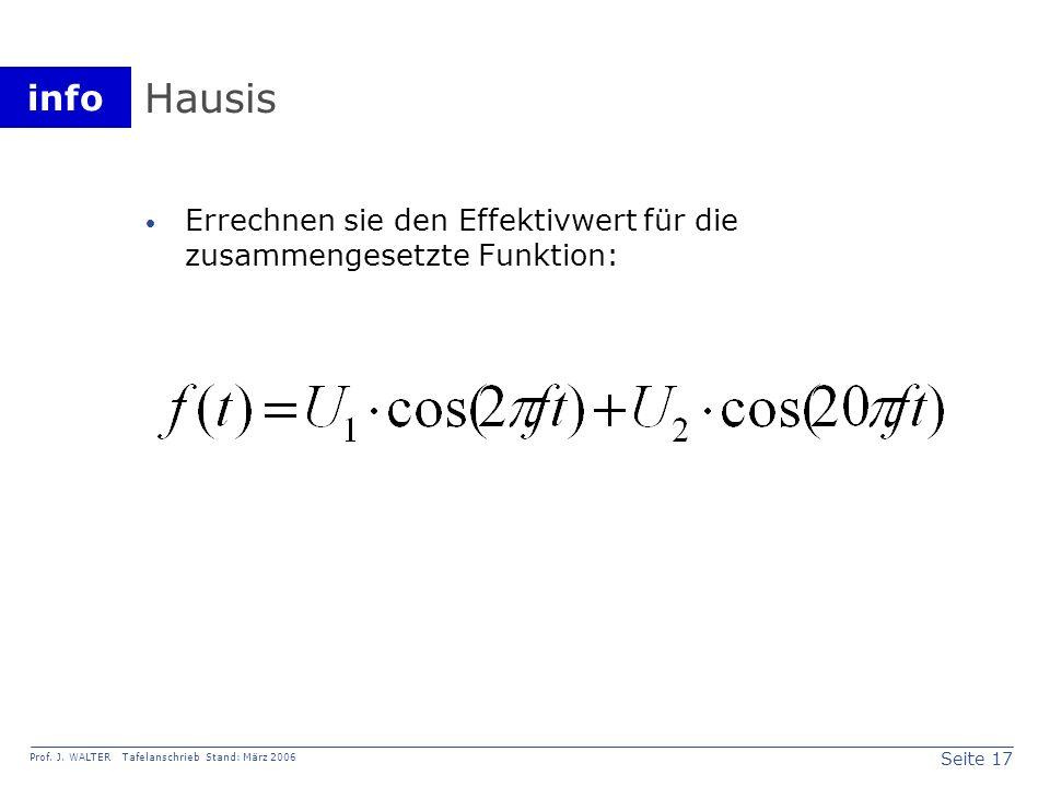 Hausis Errechnen sie den Effektivwert für die zusammengesetzte Funktion: