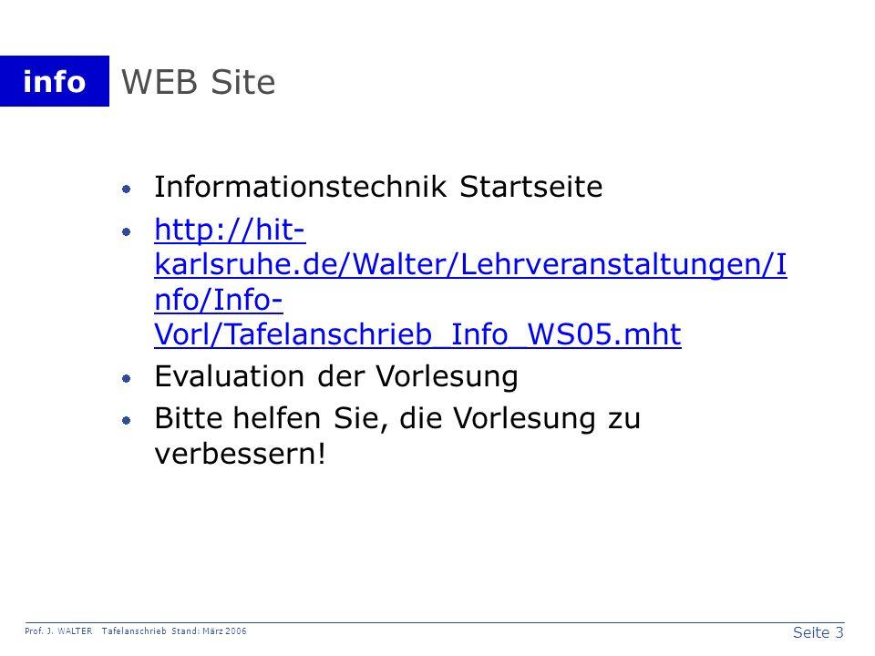 WEB Site Informationstechnik Startseite