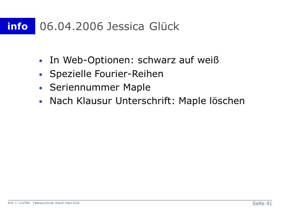 06.04.2006 Jessica Glück In Web-Optionen: schwarz auf weiß
