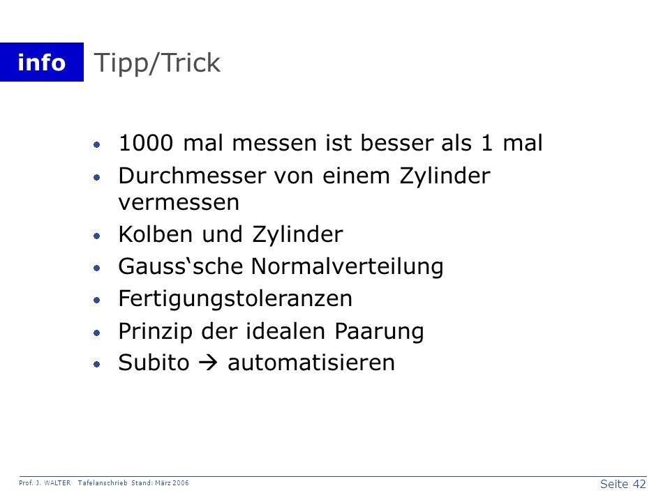 Tipp/Trick 1000 mal messen ist besser als 1 mal