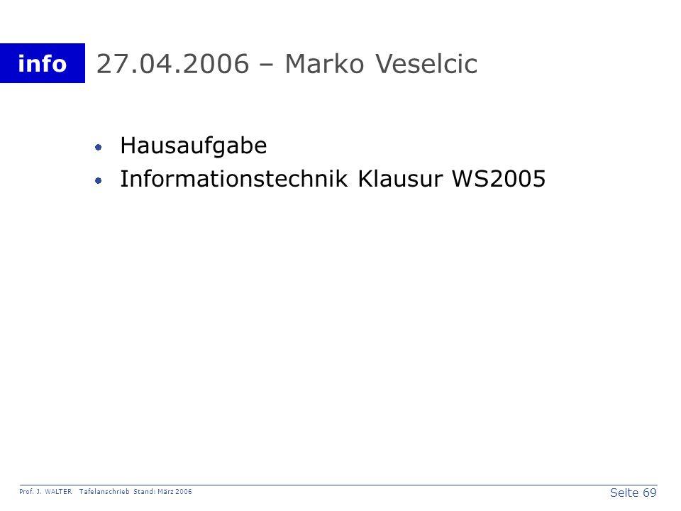 27.04.2006 – Marko Veselcic Hausaufgabe