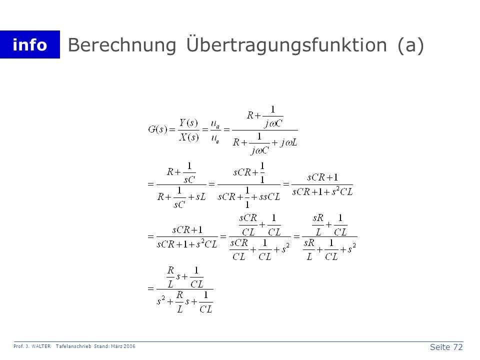 Berechnung Übertragungsfunktion (a)