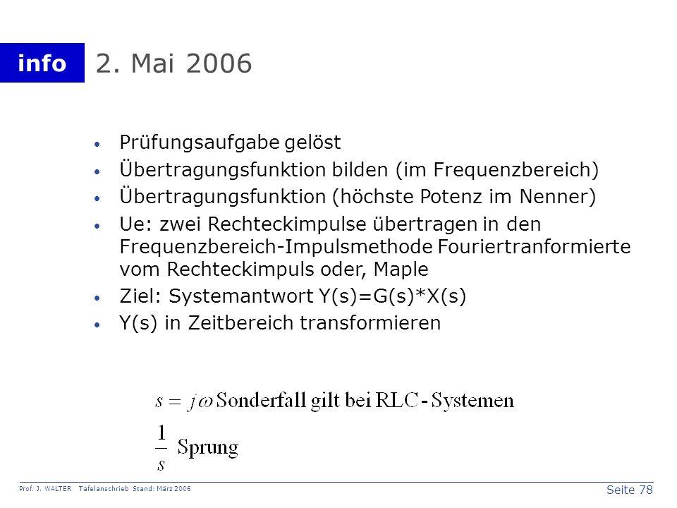 2. Mai 2006 Prüfungsaufgabe gelöst