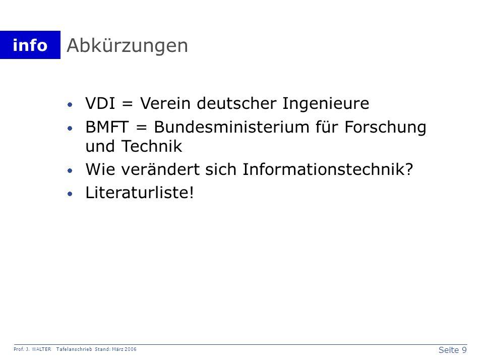Abkürzungen VDI = Verein deutscher Ingenieure
