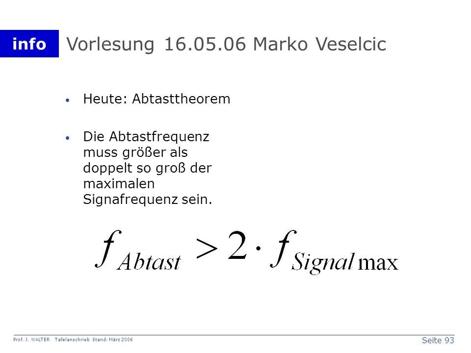 Vorlesung 16.05.06 Marko Veselcic