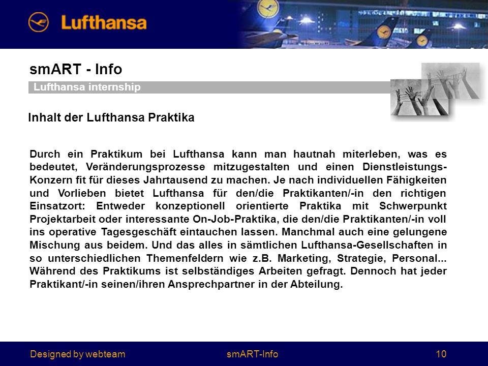 Inhalt der Lufthansa Praktika
