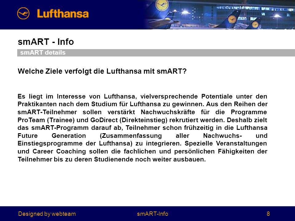 Welche Ziele verfolgt die Lufthansa mit smART
