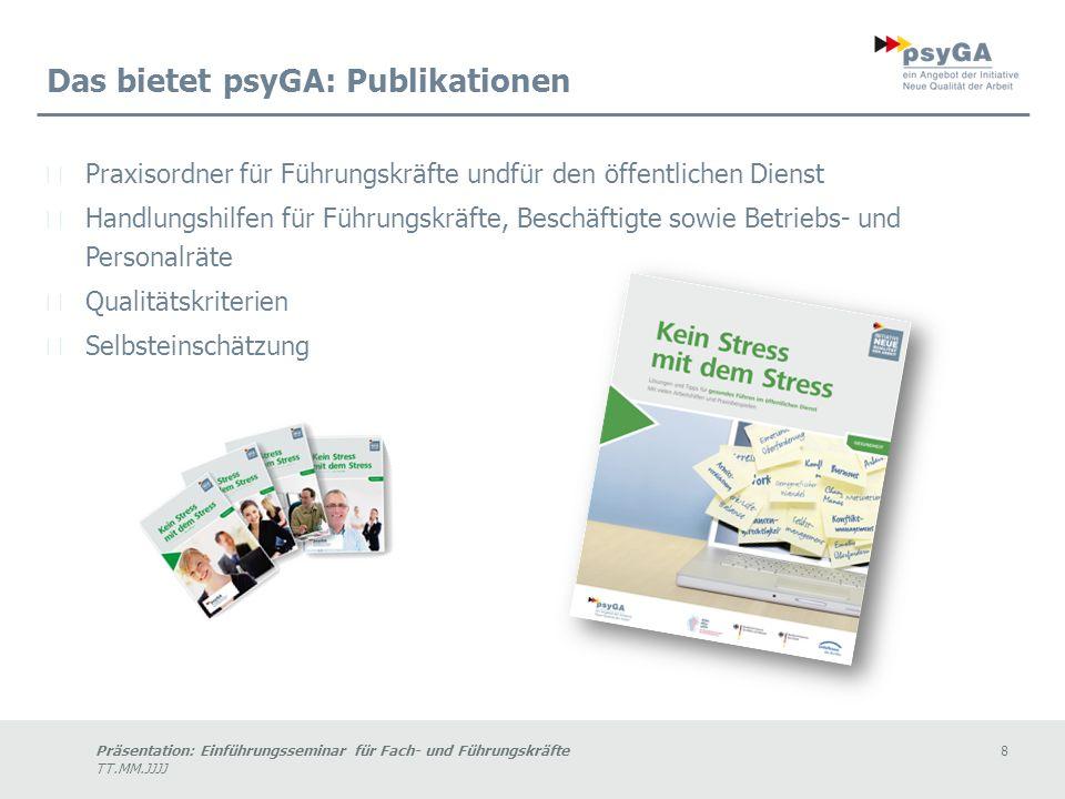 Das bietet psyGA: Publikationen