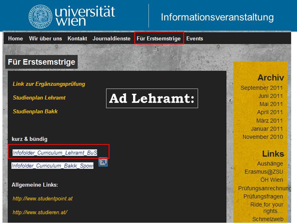 Ad Lehramt: