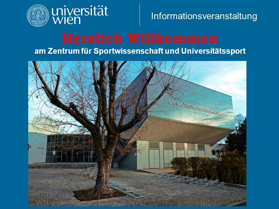 Herzlich Willkommen am Zentrum für Sportwissenschaft und Universitätssport