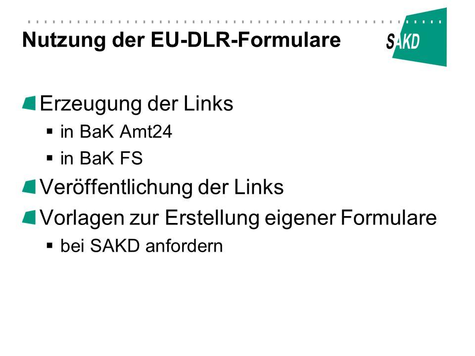 Nutzung der EU-DLR-Formulare