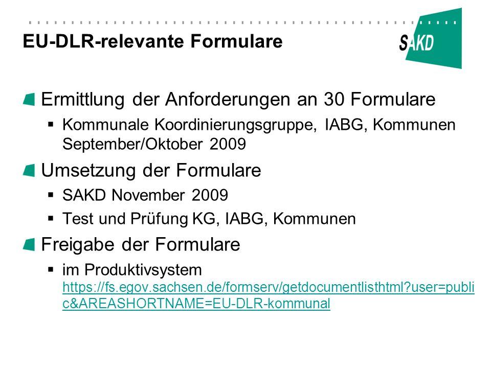 EU-DLR-relevante Formulare