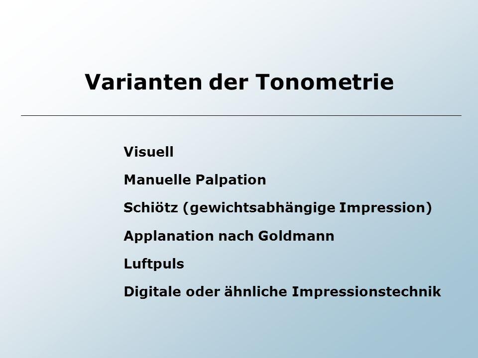 Varianten der Tonometrie