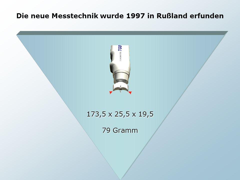 Die neue Messtechnik wurde 1997 in Rußland erfunden