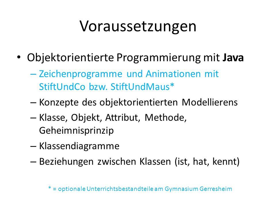 * = optionale Unterrichtsbestandteile am Gymnasium Gerresheim
