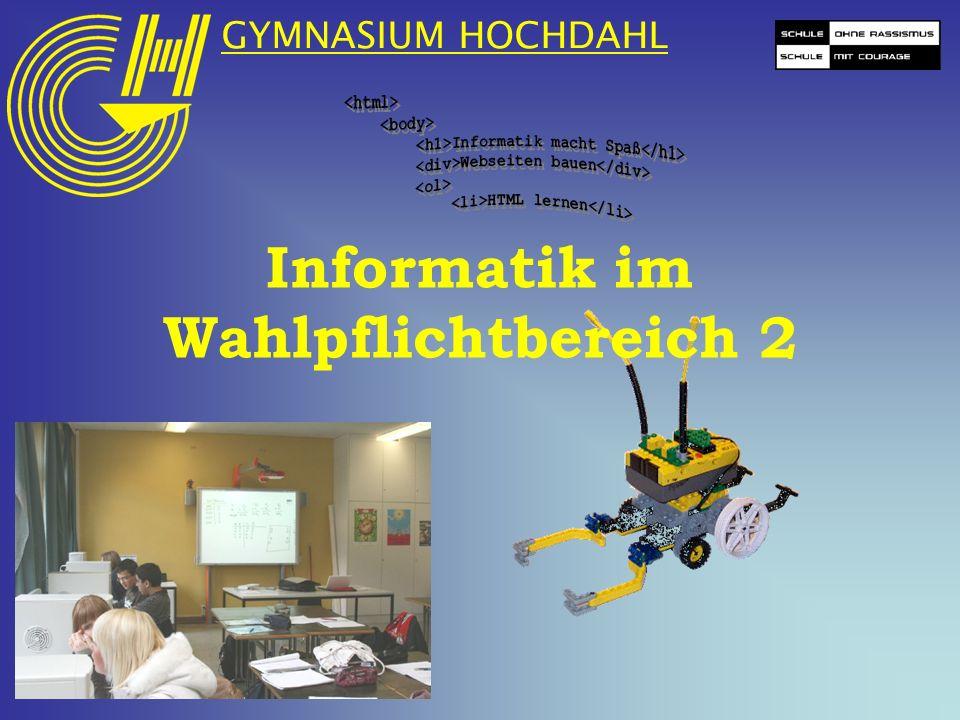 Informatik im Wahlpflichtbereich 2