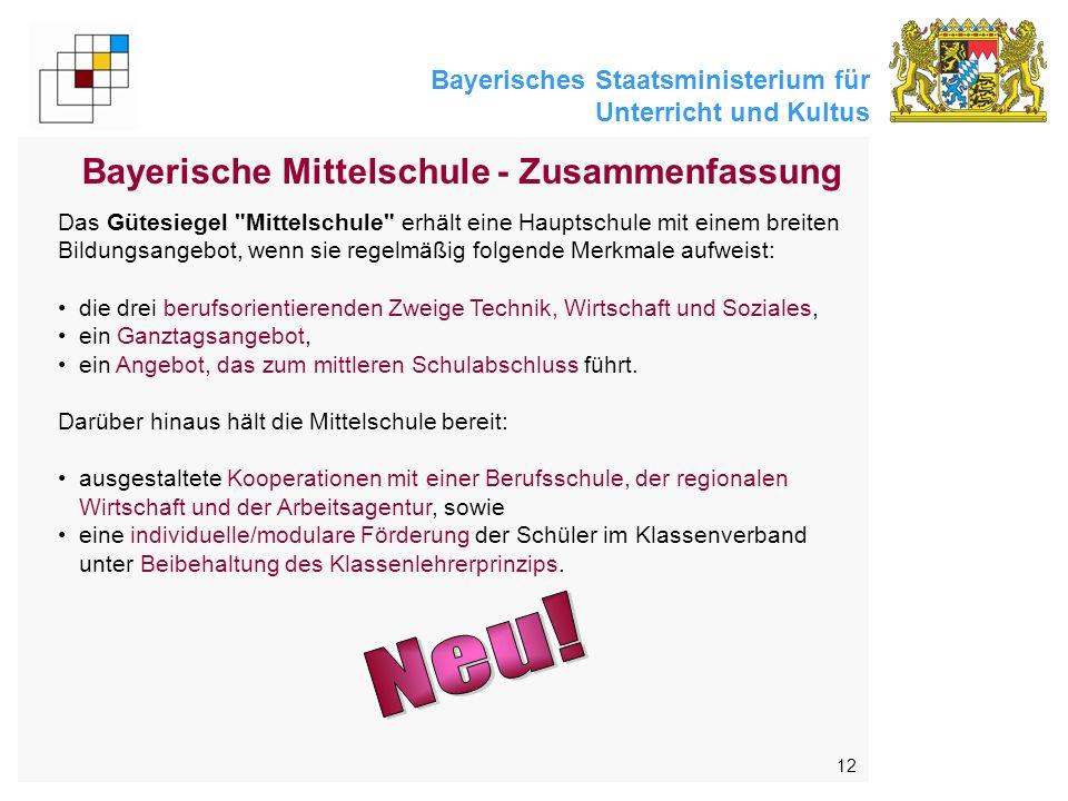 Bayerische Mittelschule - Zusammenfassung