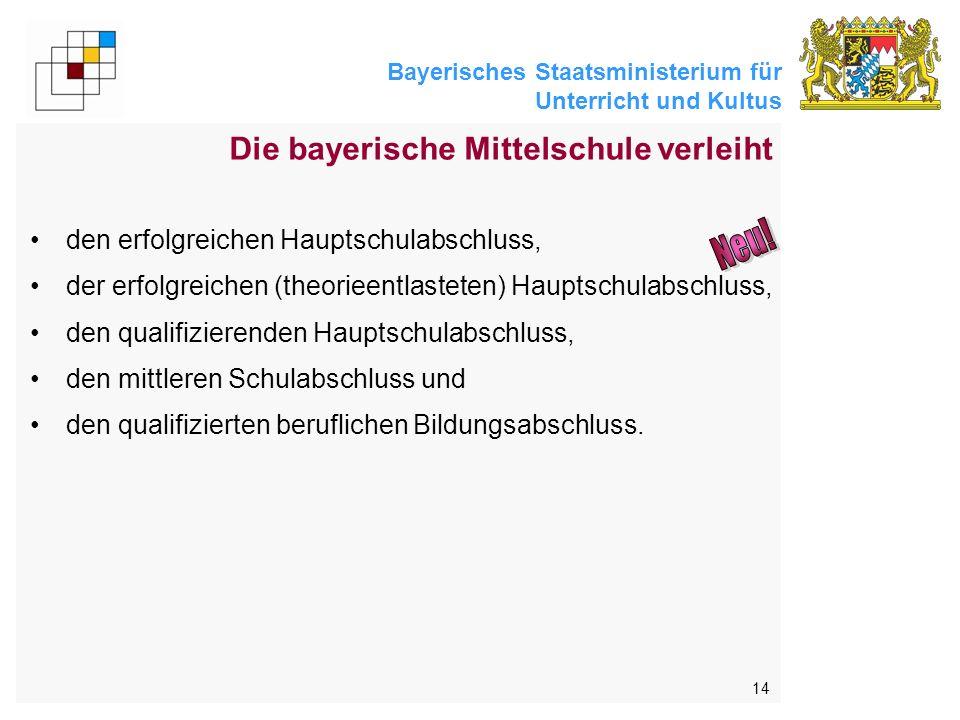 Neu! Die bayerische Mittelschule verleiht