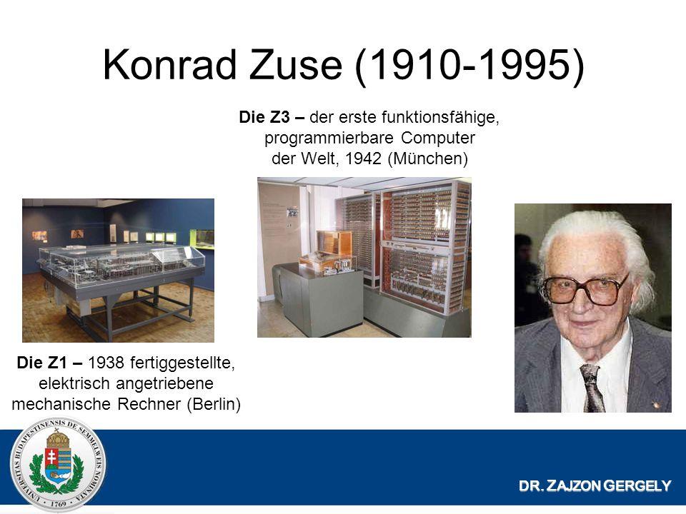Konrad Zuse (1910-1995) Die Z3 – der erste funktionsfähige, programmierbare Computer der Welt, 1942 (München)