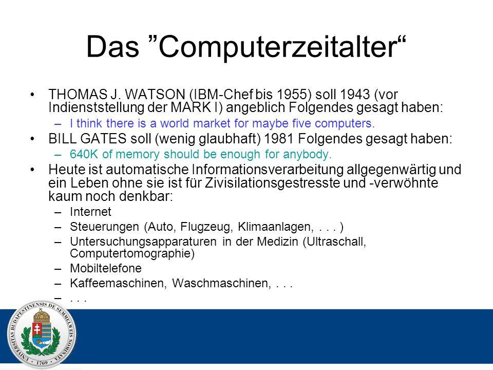 Das Computerzeitalter