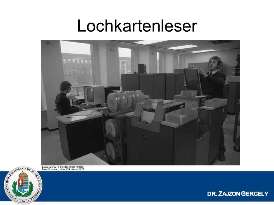 Lochkartenleser DR. ZAJZON GERGELY